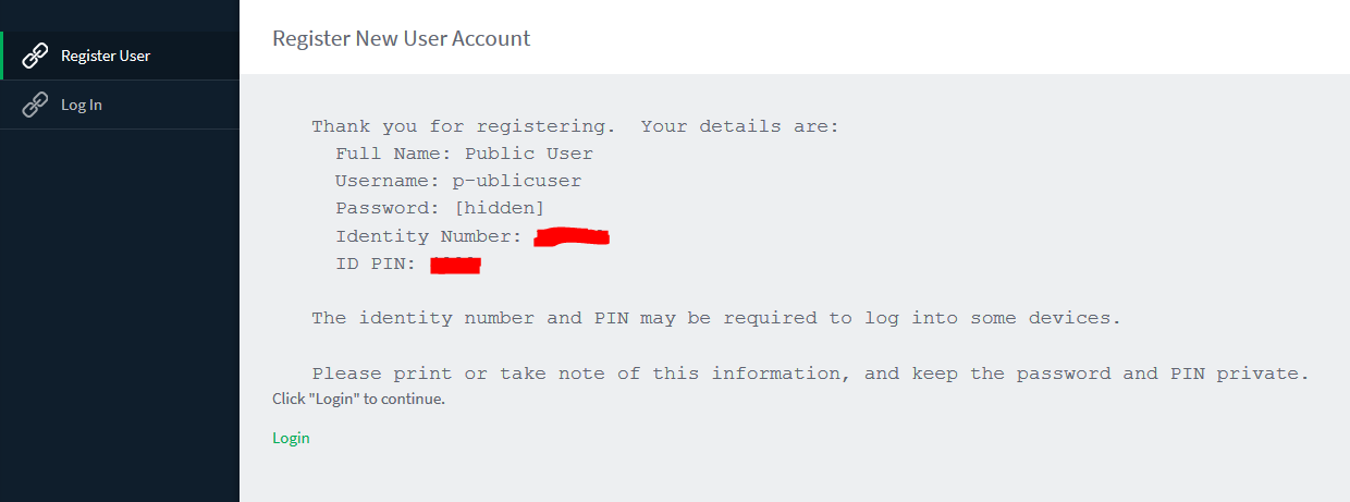 Image of Register New User Account