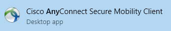Cisco AnyConnect Secure Mibility Client Desktop app