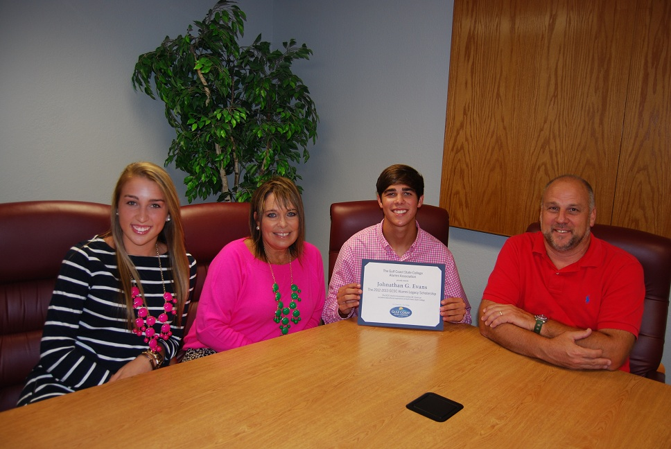 Garrett Evens 2012 Legacy Scholarship Recipient