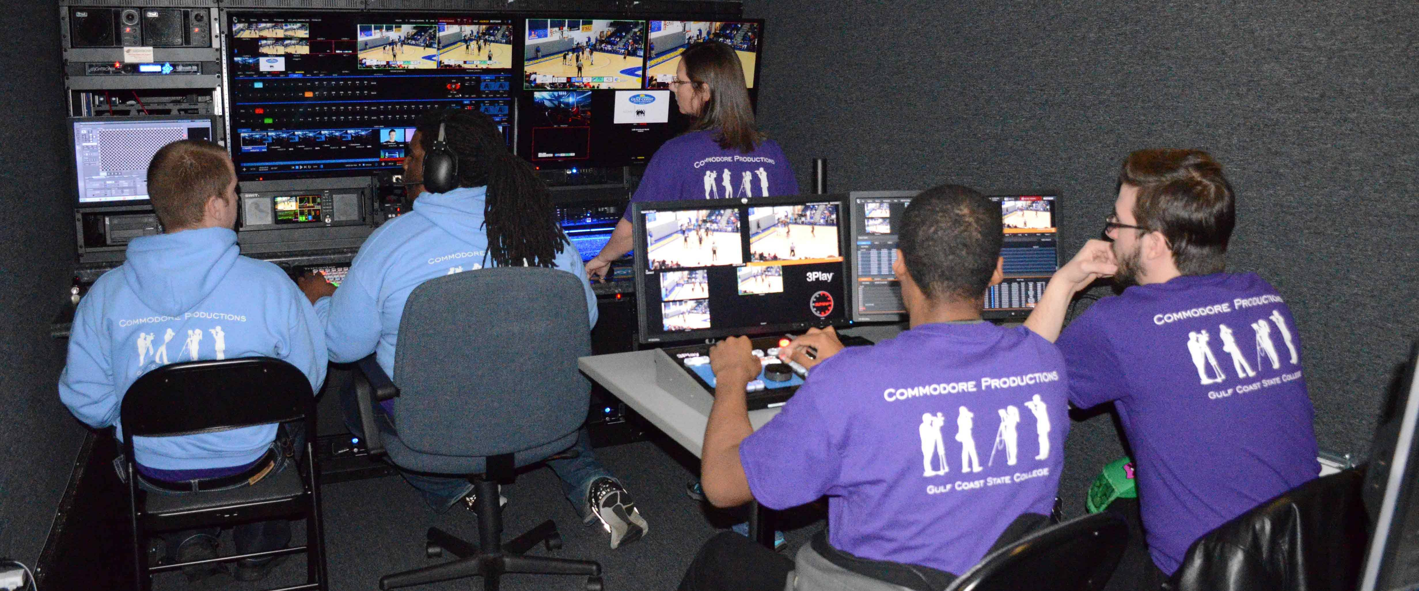 Students in the Production Room