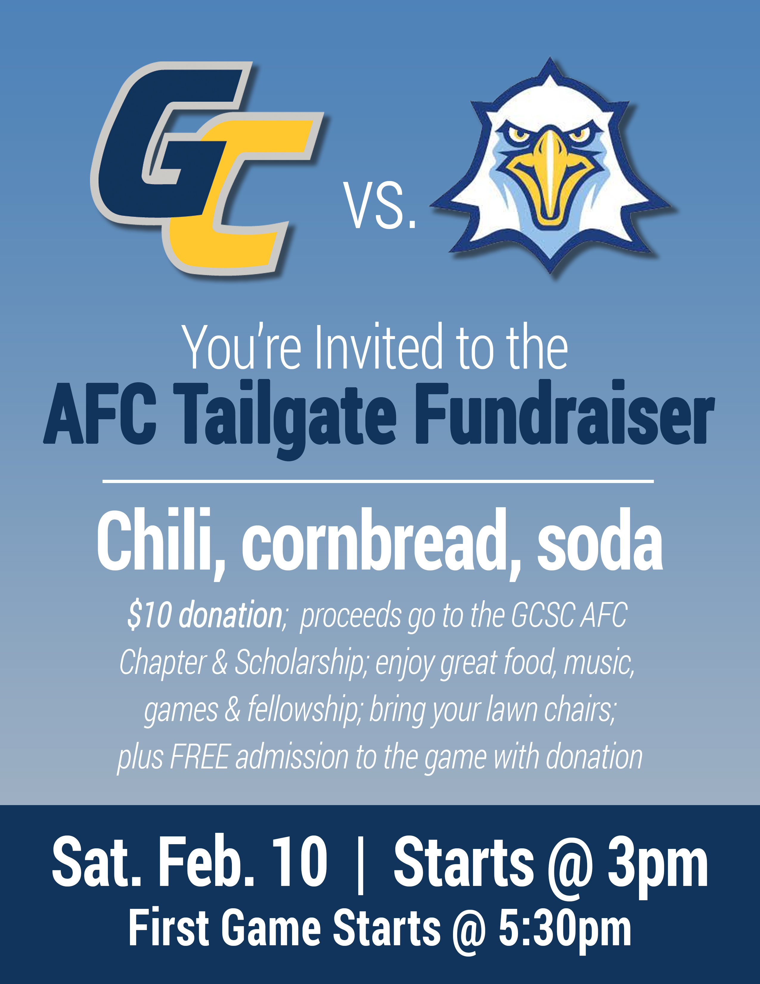 AFC TAILGATE FUNDRAISER