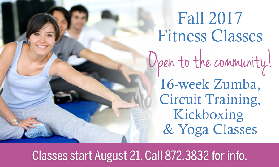 fall 2017 fitness classes