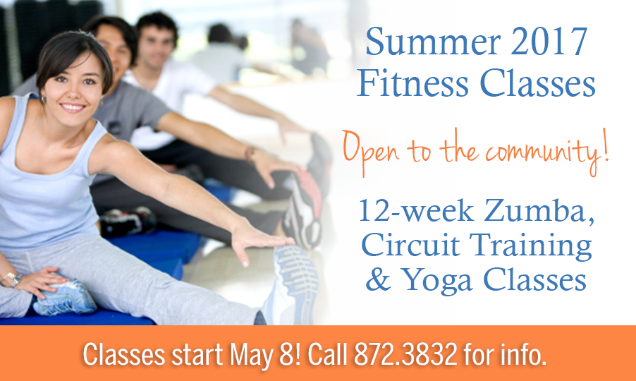 summer 2017 fitness classes