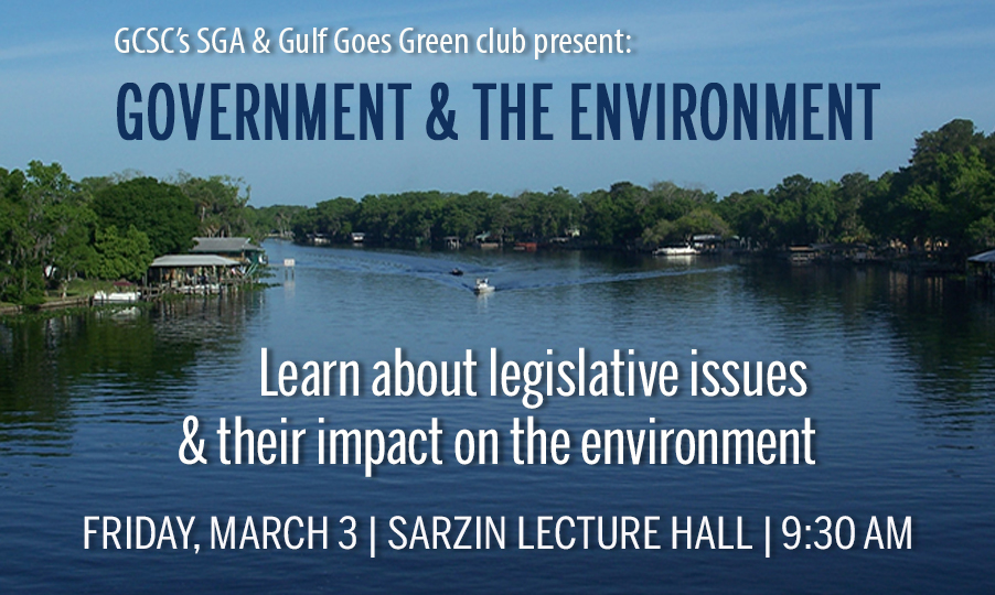 "GCSC HOSTS COMMUNITY FORUM ""GOVERNMENT AND THE ENVIRONMENT"""