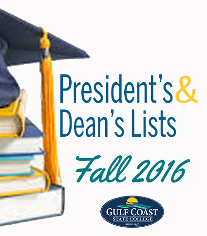 fall 2016 president's and dean's list