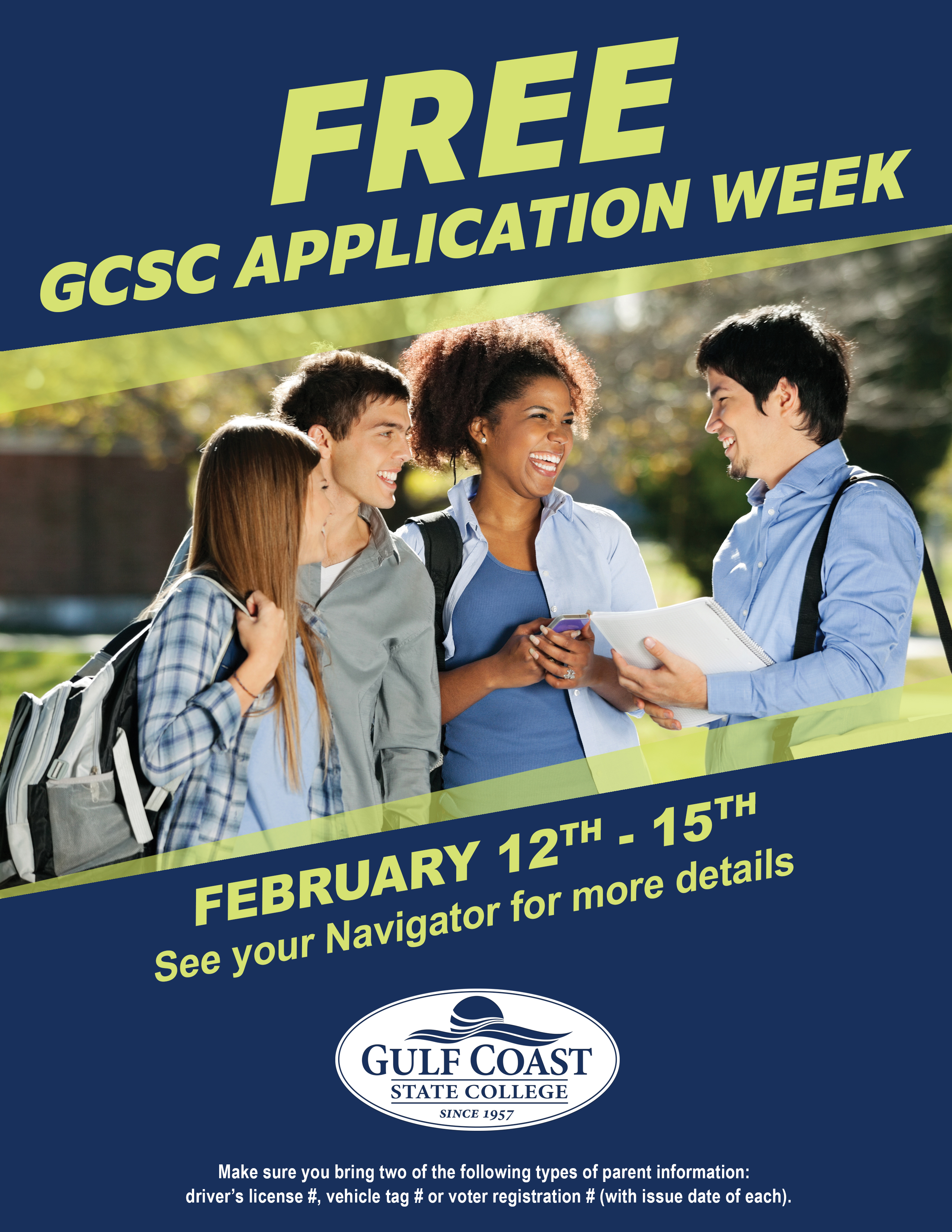 free application week flyer