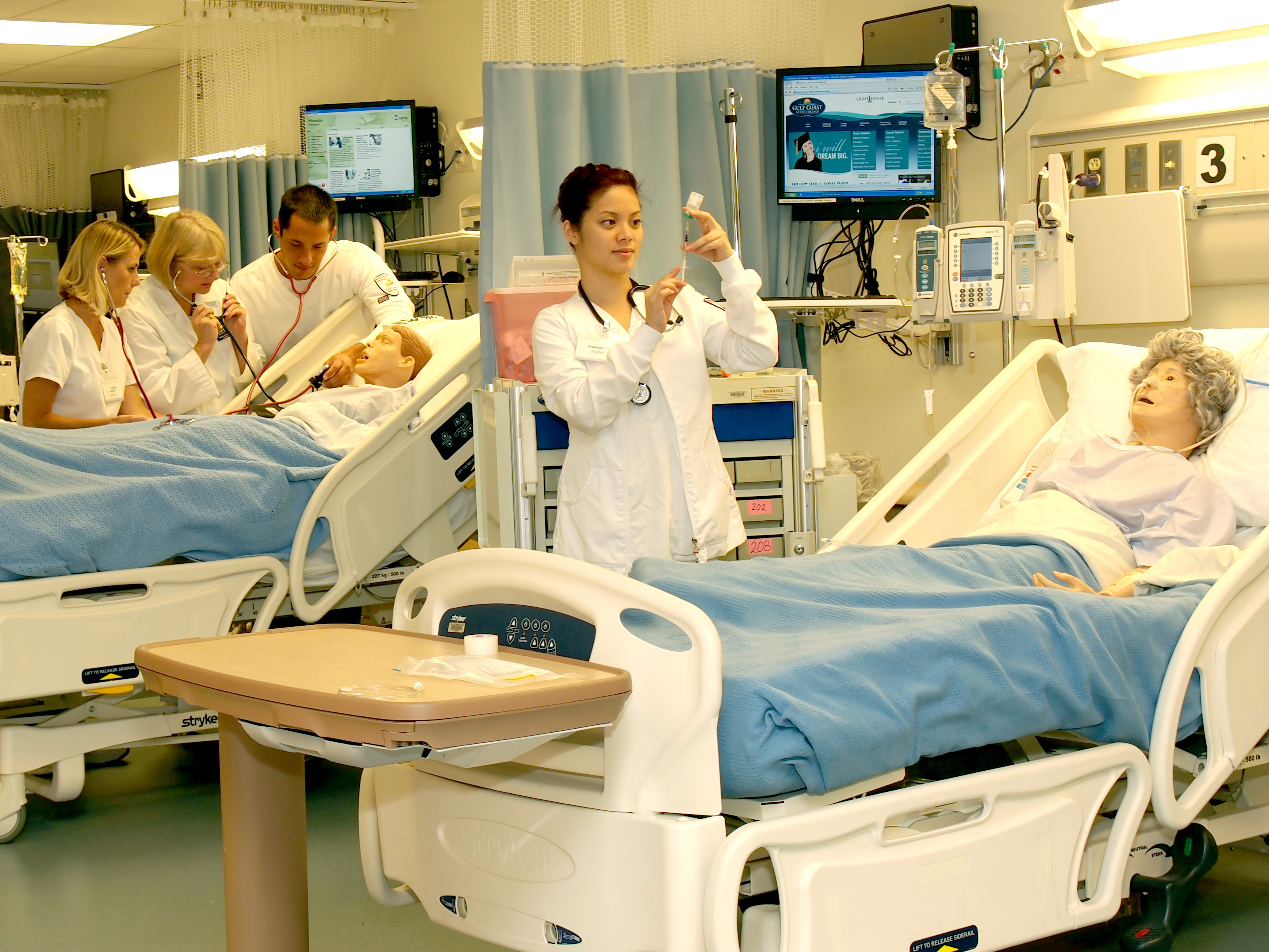 Students in the nursing lab