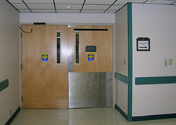 Doors that lead to the surgery suite