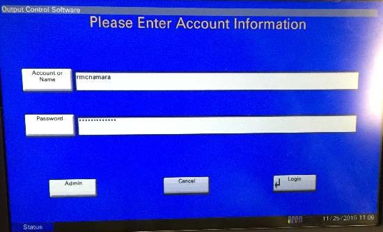 Please Enter Account Information