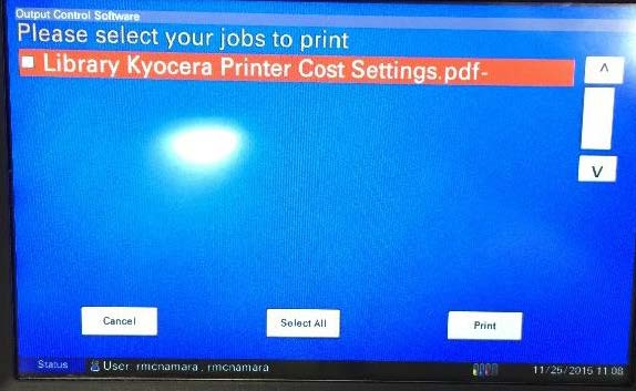 Please select your jobs to print