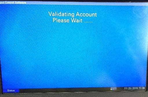 Validating Account Please Wait...