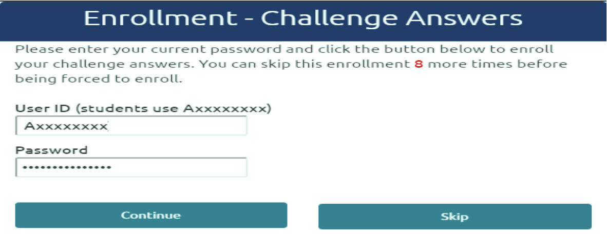 Gulf Coast State College | Password Reset Tool - Portal Guard