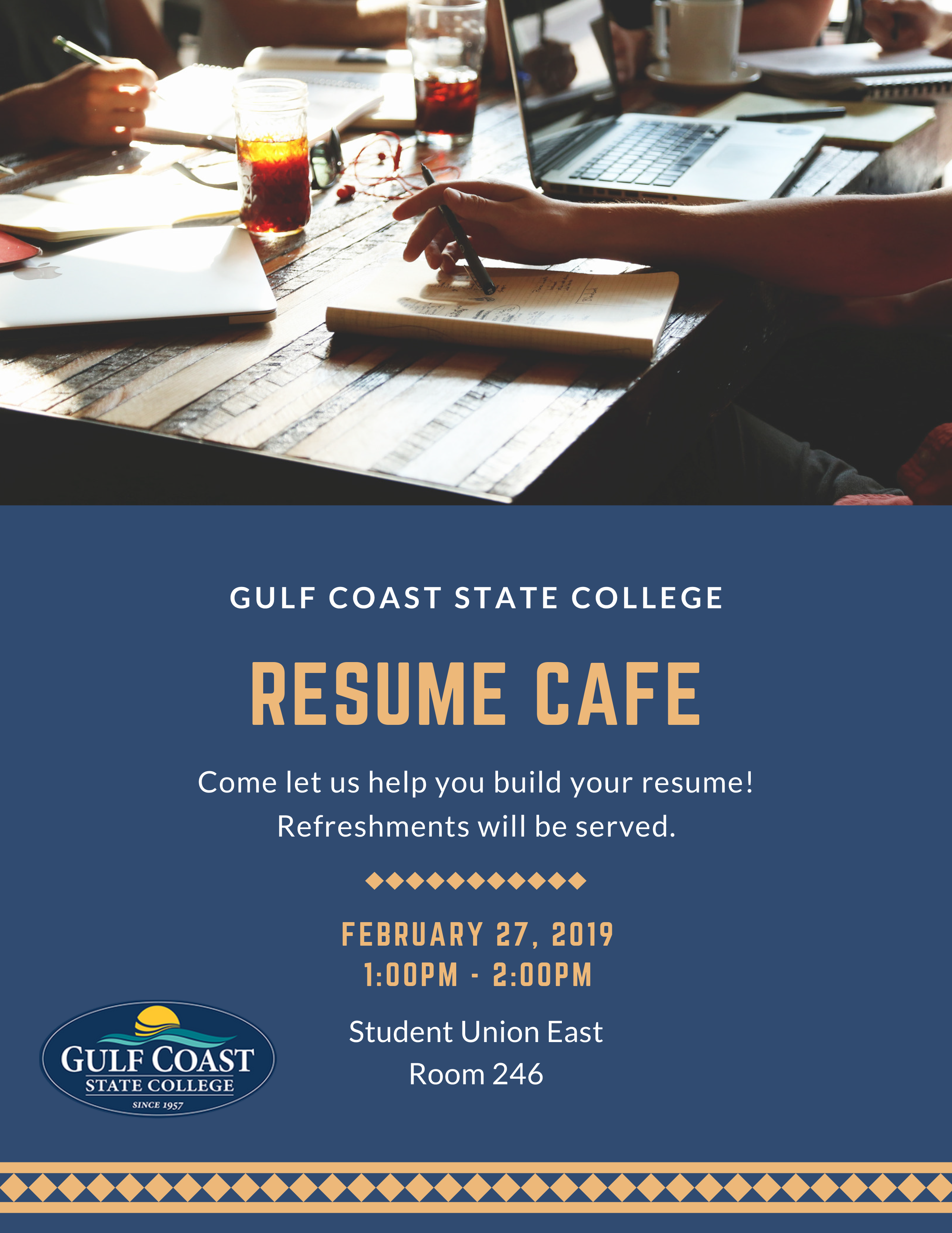 Come to Resume Cafe and let us help you build your resume!